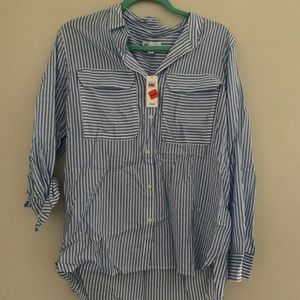 Women's Gap Stripped Blouse NWT
